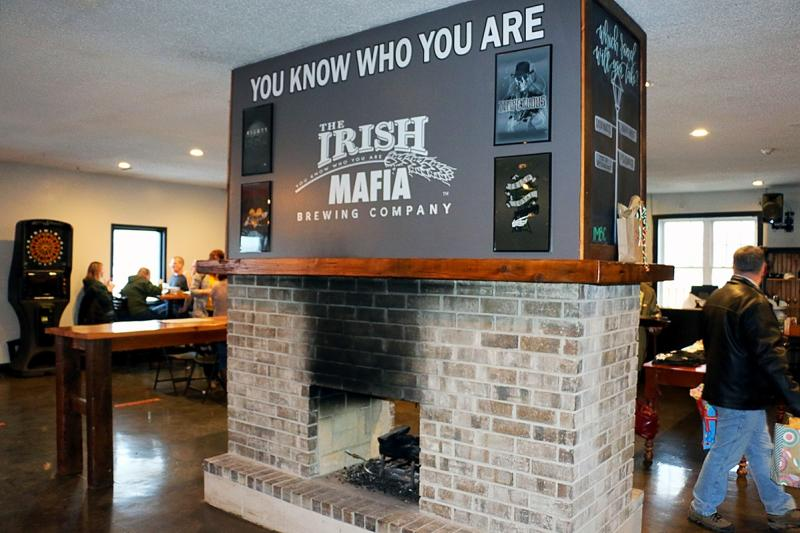 Irish Mafia fireplace