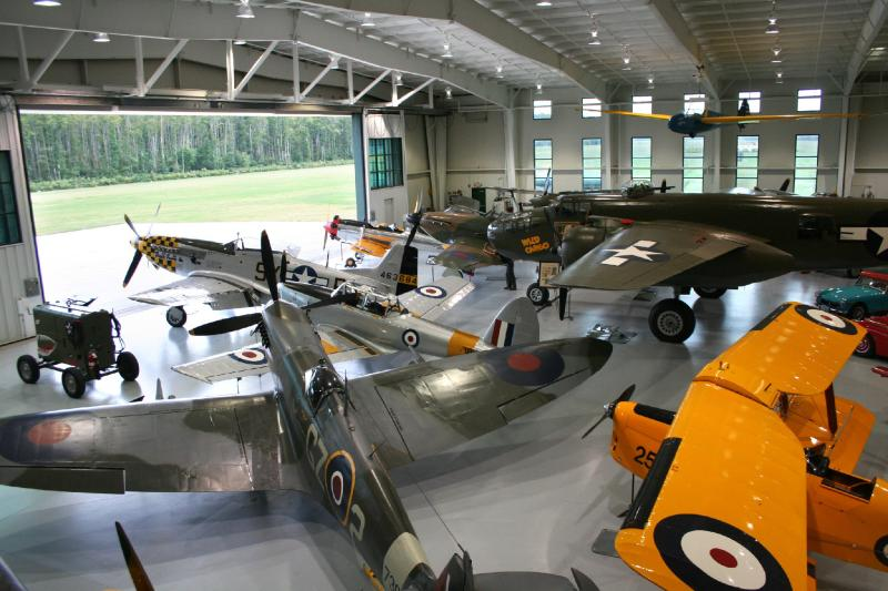 Interior of Virginia's Military Aviation Museum Navy Hangar