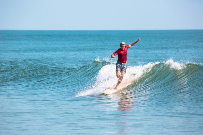 Surfing at the Virginia Beach Oceanfront