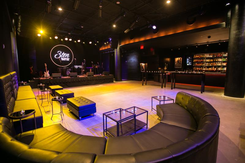 Empty interior of 3TEN ACL Live music and event venue in austin texas