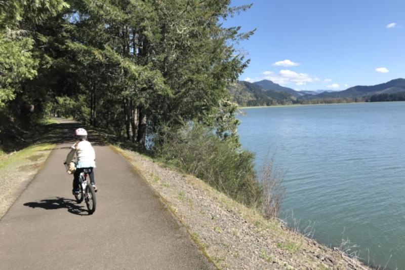 Row River Trail's Dorena Lake Views by Taj Morgan