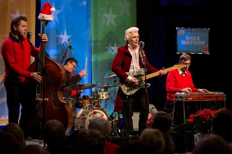 Dale Watson and band on stage at Armadillo Christmas Bazaar