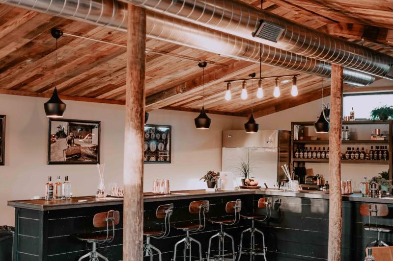 Cocktail Lab bar at Treaty Oak Distilling near austin texas