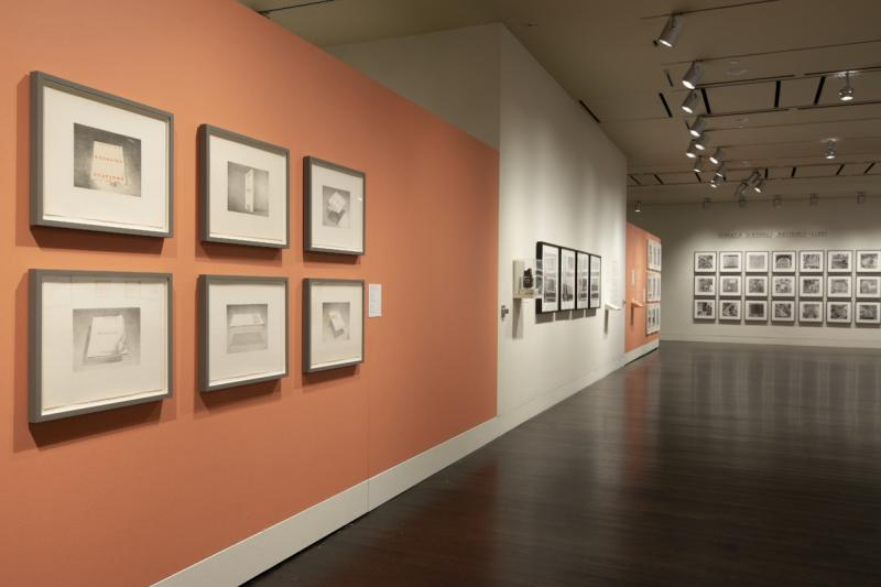 Ed Ruscha Archaeology and Romance art exhibit at the Harry Ransom Center in austin texas
