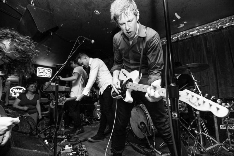 Spoon on stage at Volstead Lounge music venue in austin texas