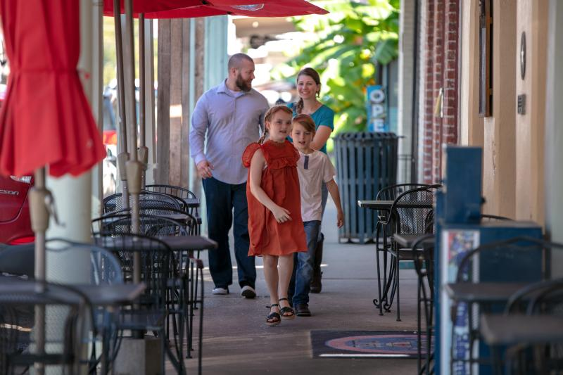 Family in Downtown Bastrop