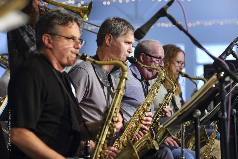Performers on stage for B'Town Jazz Fest