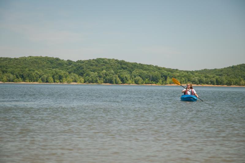 Monroe Lake Kayaker