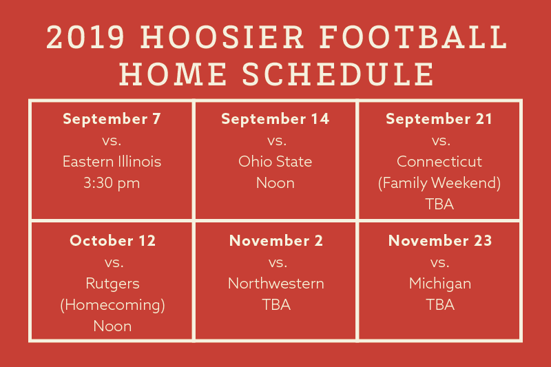 2019 Hoosier Football Schedule