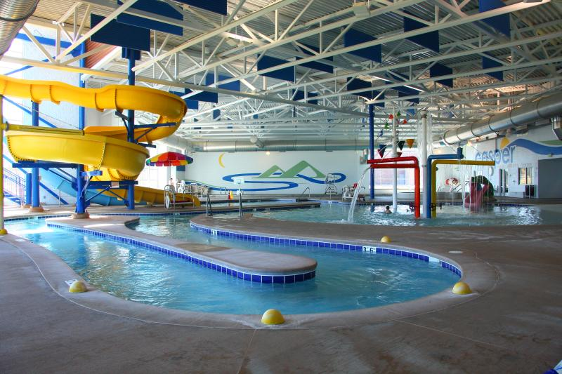 The Aquatic Center in Casper features an indoor water park.