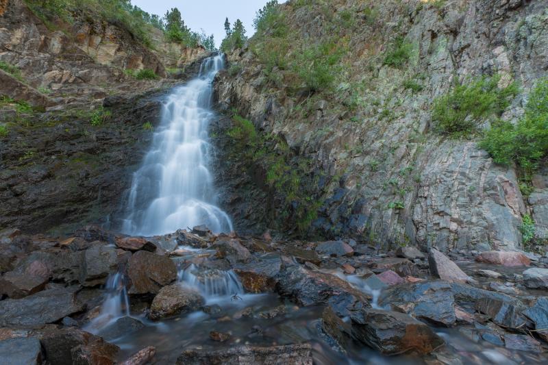 Waterfall at Garden Creek Falls in Casper, WY