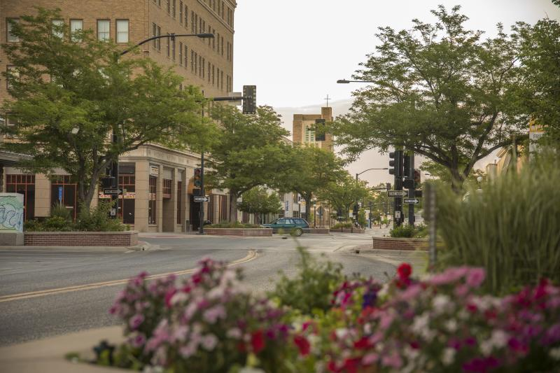 The quiet streets of downtown Casper welcome visitors from near and far.