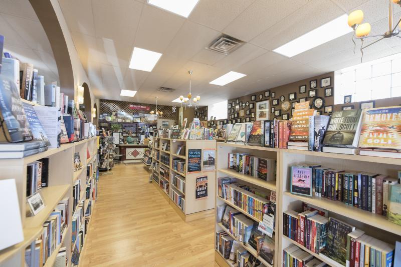 Interior of Wind City Books in Casper, WY