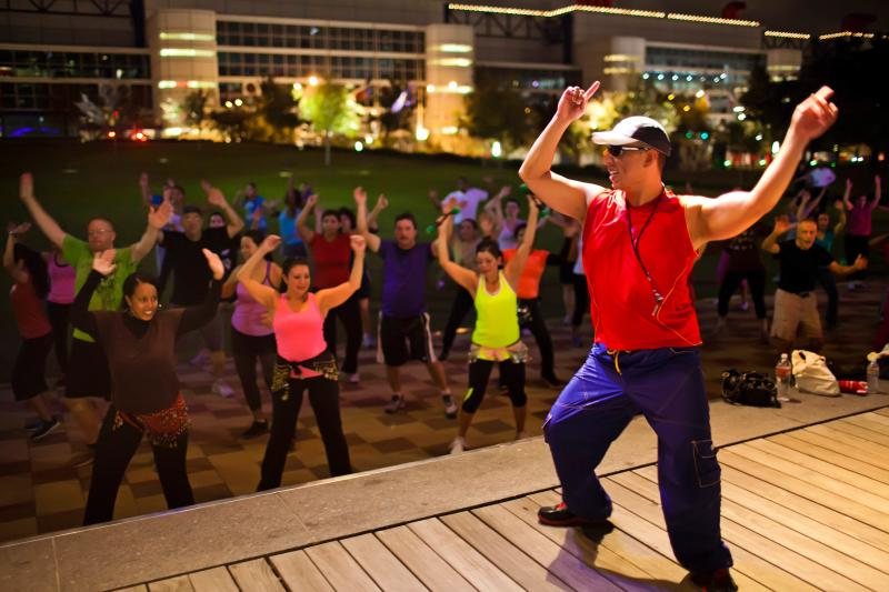 Zumba at Discovery Green