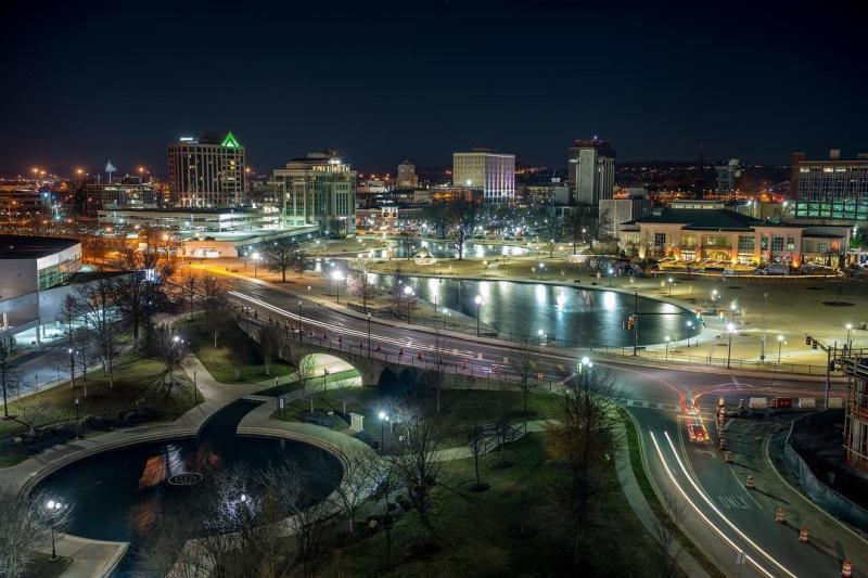 Downtown Huntsville Aerial
