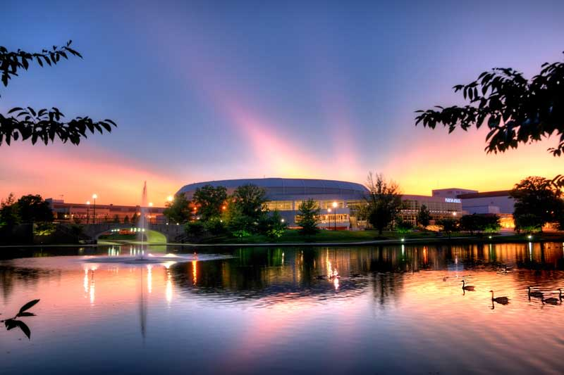 Von-Braun-Civic-Center-Sunset