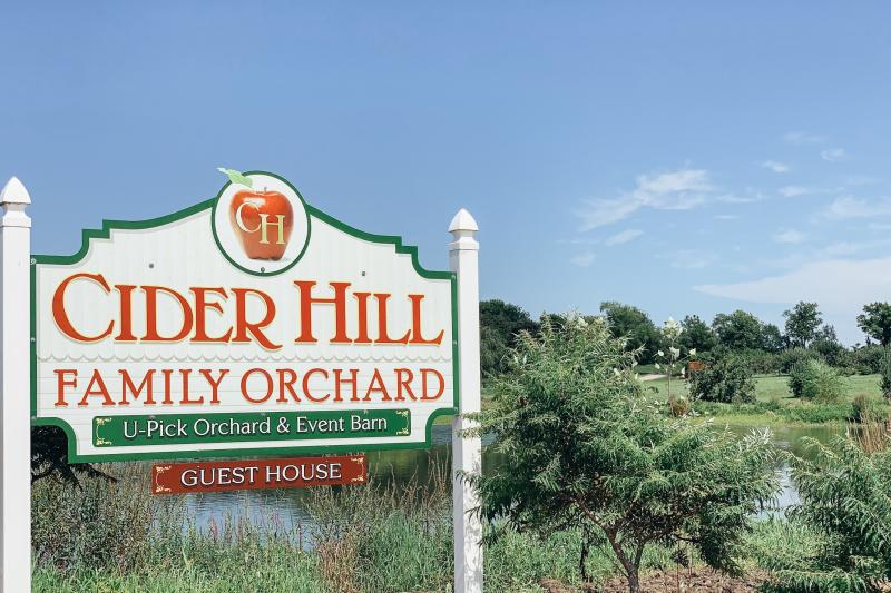 Cider Hill sign