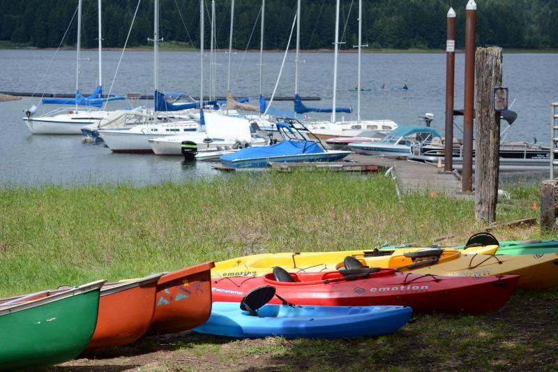 Baker Bay Marina Dorena Lake by Colin Morton