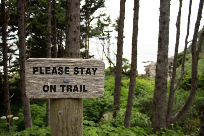 Please Stay on Trail sign by Stephen Hoshaw