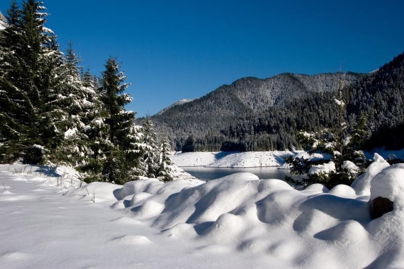 Snow at Cougar Reservoir by Michael Van Dewalker