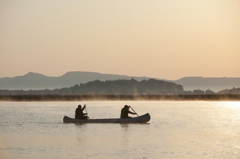 Canoeing at Fern Ridge by Eugene, Cascades & Coast