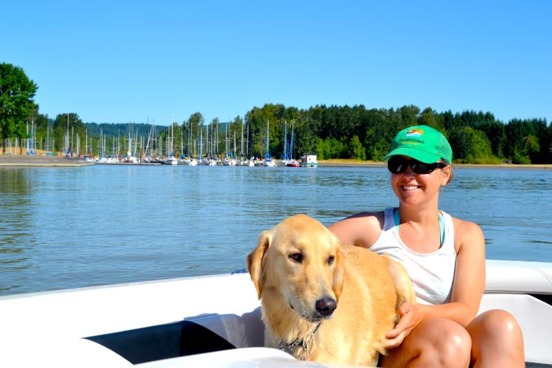 Fern Ridge Sailing Dog by Sally McAleer