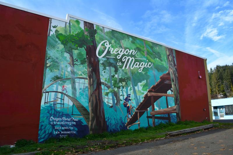 Oregon is Magic Mural by Colin Morton