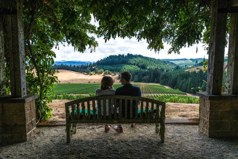 Iris Vineyards patio by Joni Kabana