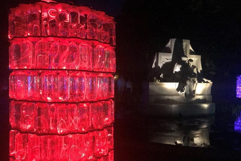 Bruce Munro's Southern Light exhibit at Brookgreen Gardens, Myrtle Beach, SC