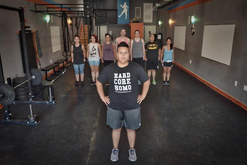 LGBTQ Gym interior and members in Oakland