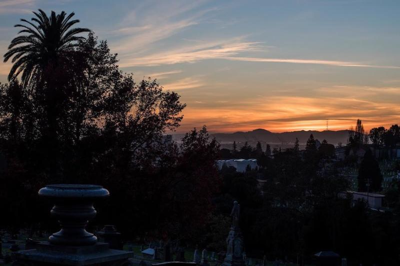 Sunset From Mountain View Cemetery in Oakland