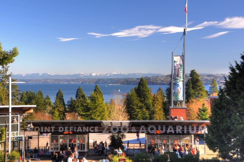 Point Defiance Zoo and Aquarium entrance
