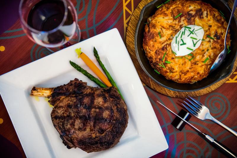Spencer's for steak and chops Valentines dinner