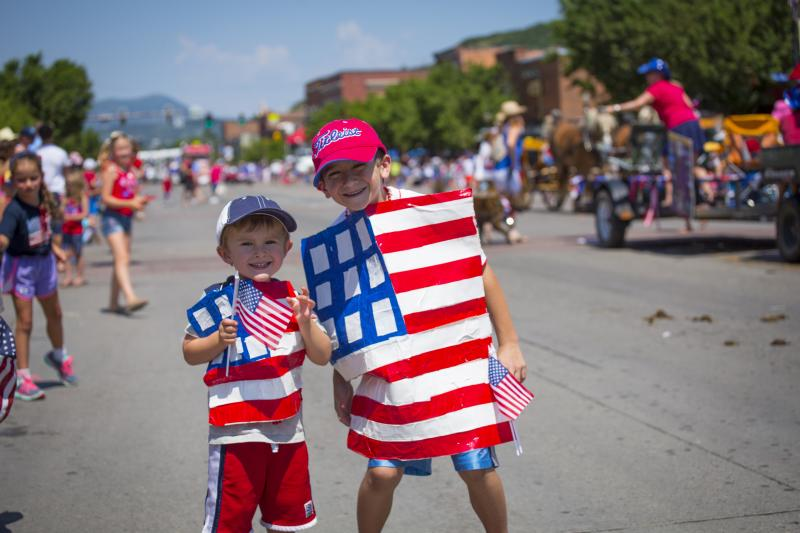 Celebrate the fourth of July at the parade in downtown Steamboat Springs