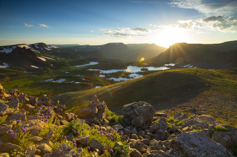 The Flat Tops Wilderness offers stunning views in the summer