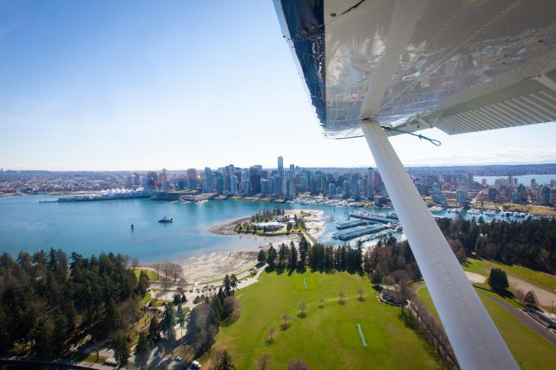 Full Size: Seaplane Over Coal Harbour