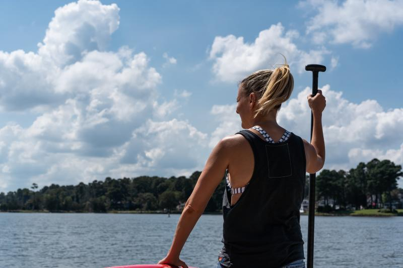 Shots from the Cavalier Productions Outdoor segment for SUPing