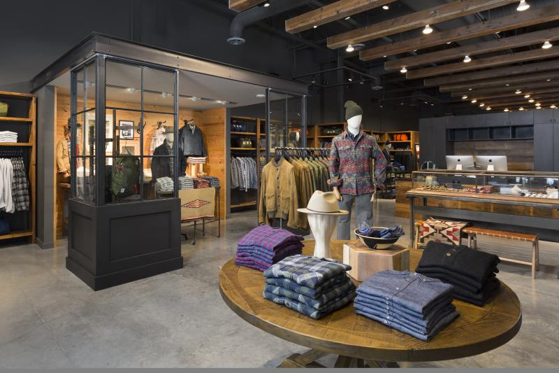 Store interior with apparel at STAG