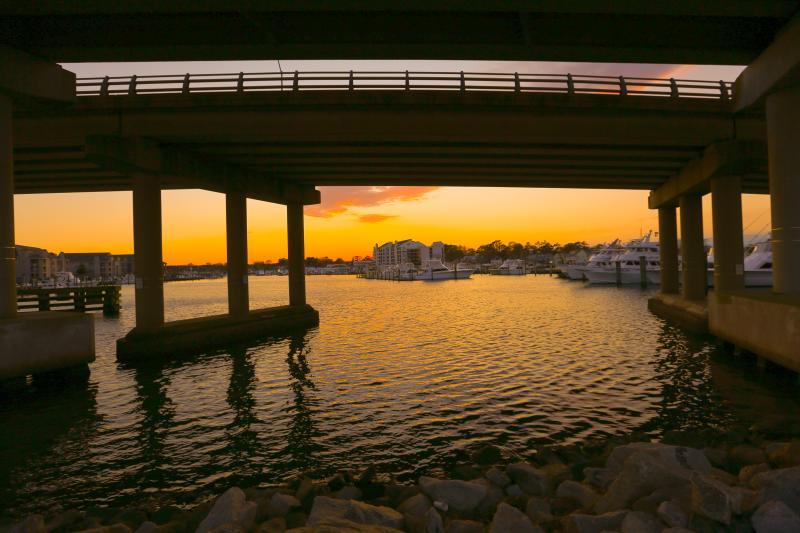 Autumn Sunset at the Rudee Inlet