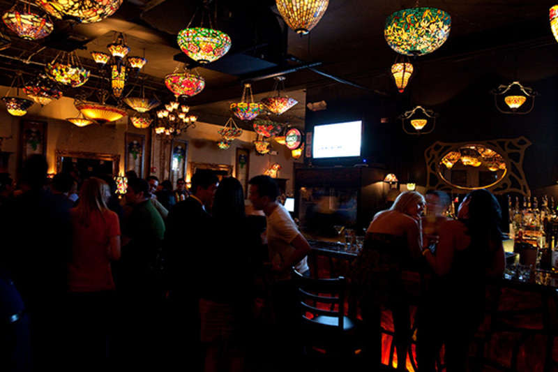 Interior of Nouveau Art Bar in Houston