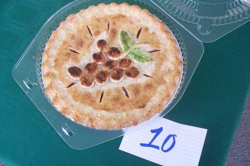 The Naples Grape Festival grape pie contest entry