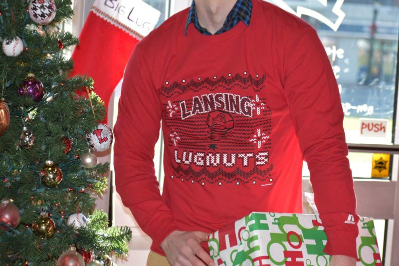 Lansing Lugnuts Ugly Christmas sweater