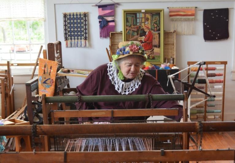 Barberville Pioneer Settlement Loom Demonstration