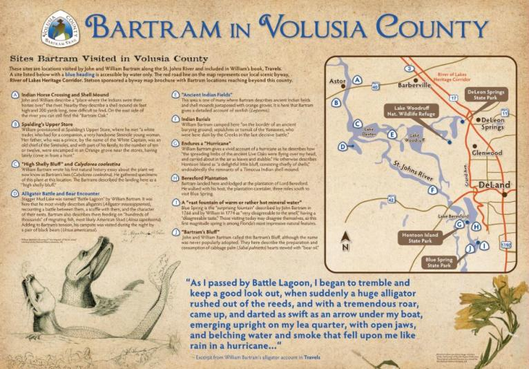 Canoe or kayak along Lake Beresford to areas where William Bartram traveled