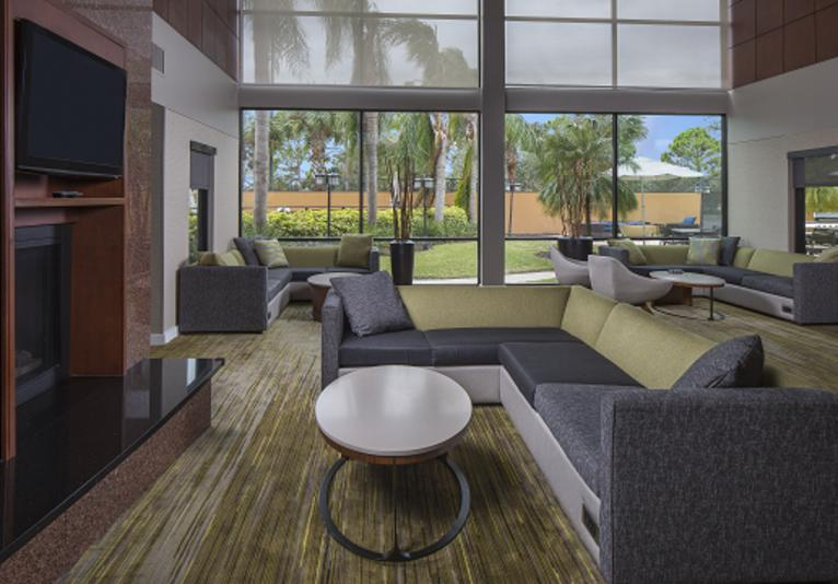 Courtyard lobby
