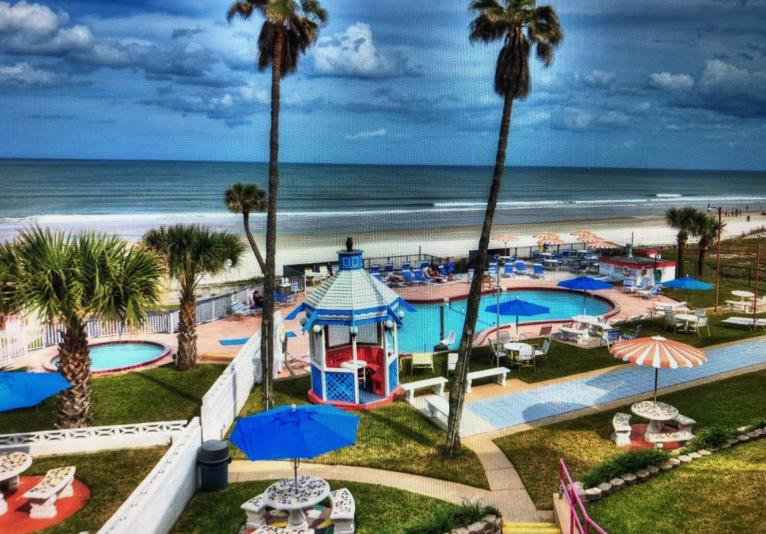 Relax in our Spacious, OceanFront Pool and Sundeck