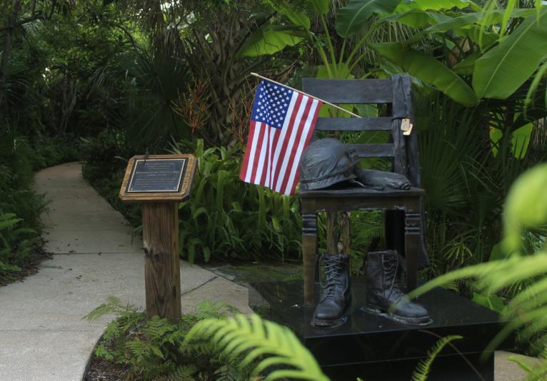memorial in the gardens