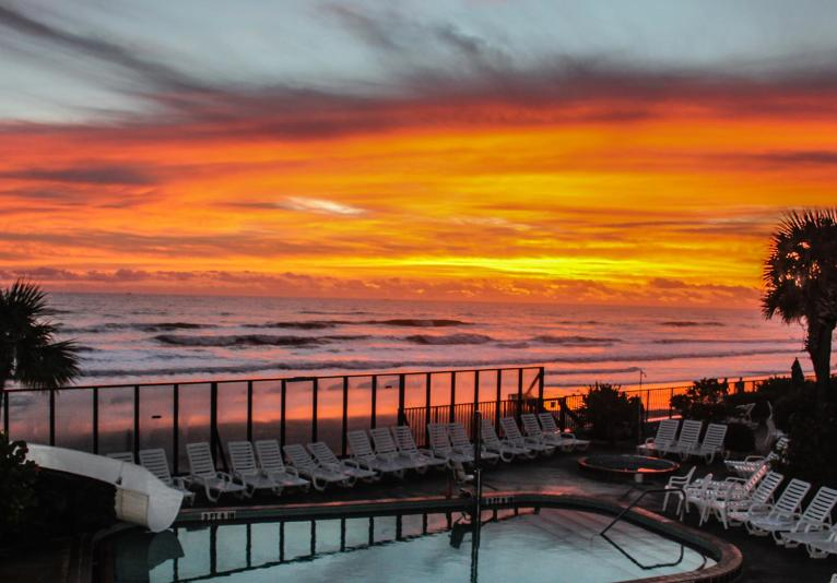 Poolside Sunrise
