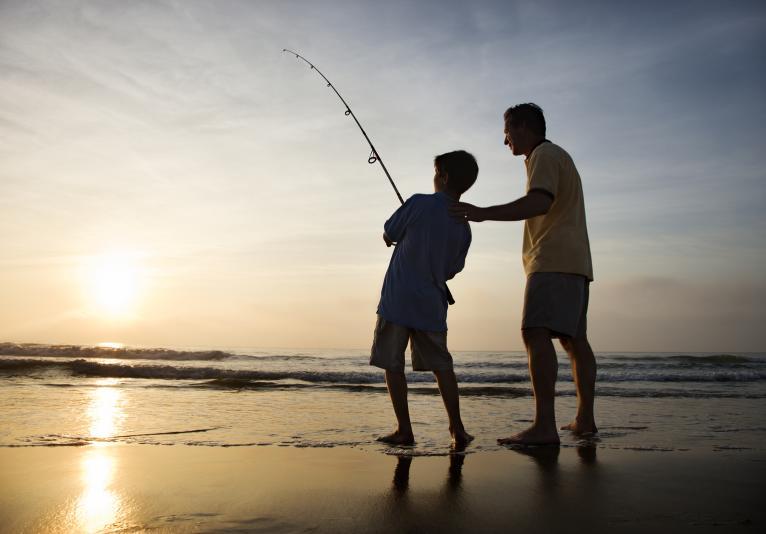 Sunrise Shore Fishing