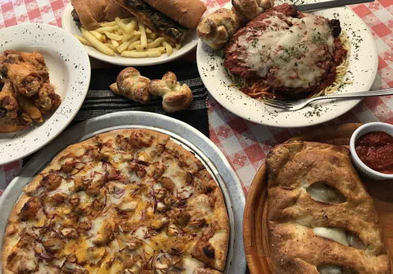 Pizza, Pasta, Wings, Subs, Calzones, Stromboli, Gyros, Burgers & More
